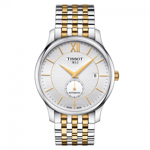 T063.428.22.038.00 : Tissot Tradition Automatic Small Second Bicolor / Silver / Bracelet