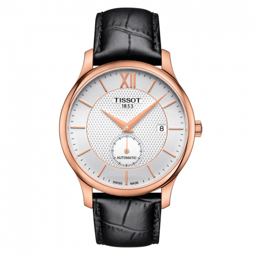 T063.428.36.038.00 : Tissot Tradition Automatic Small Second Rose Gold PVD / Silver