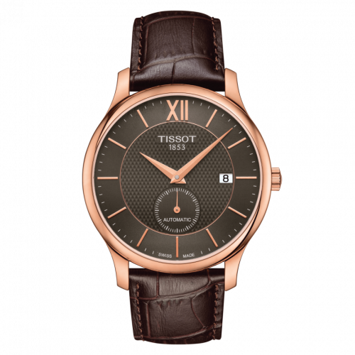 T063.428.36.068.00 : Tissot Tradition Automatic Small Second Rose Gold PVD / Grey