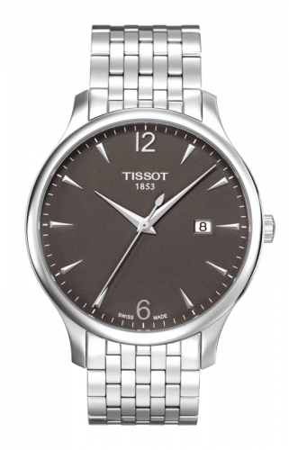 T063.610.11.067.00 : Tissot Tradition Quartz 42 Stainless Steel / Grey / Bracelet