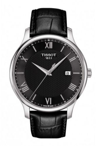 T063.610.16.058.00 : Tissot Tradition Quartz 42 Stainless Steel / Black / Strap