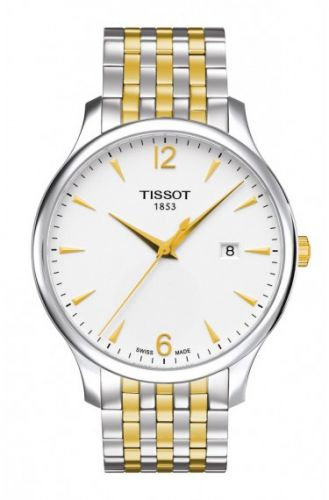 T063.610.22.037.00 : Tissot Tradition Quartz 42 Stainless Steel / Yellow Gold PVD / Silver / Bracelet