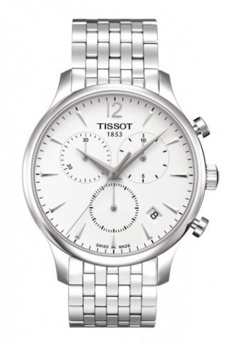 T063.617.11.037.00 : Tissot Tradition Chronograph Stainless Steel / Silver / Bracelet