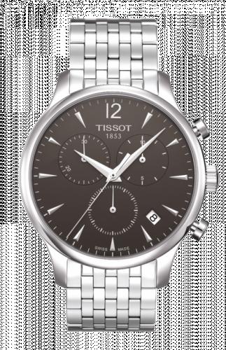 T063.617.11.067.00 : Tissot Tradition Chronograph Stainless Steel / Grey / Bracelet