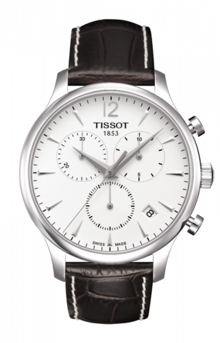 T063.617.16.037.00 : Tissot Tradition Chronograph Stainless Steel / Silver