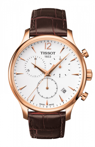 T063.617.36.037.00 : Tissot Tradition Chronograph PVD Rose Gold / Silver