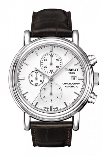 T068.427.16.011.00 : Tissot Carson Chronograph Automatic 42 Stainless Steel / White / Strap