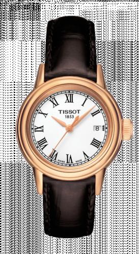 Tissot T085.210.36.013.00 : Carson Quartz 29.7 Rose Gold PVD / White / Strap