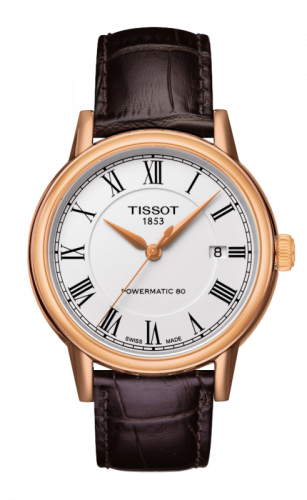 Tissot T085.407.36.013.00 : Carson Powermatic 80 Rose PVD / White Roman
