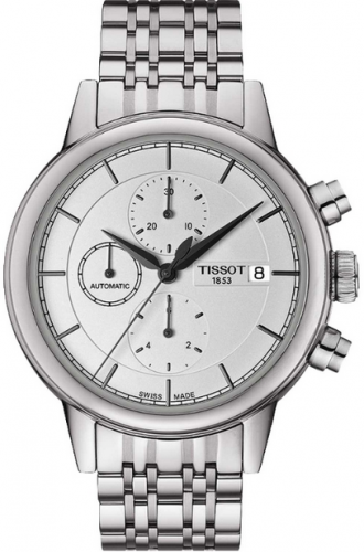 T085.427.11.011.00 : Tissot Carson Automatic Chronograph 42.3 Stainless Steel / Silver / Bracelet