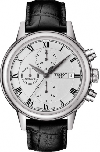T085.427.16.013.00 : Tissot Carson Automatic Chronograph 42.3 Stainless Steel / Silver / Strap