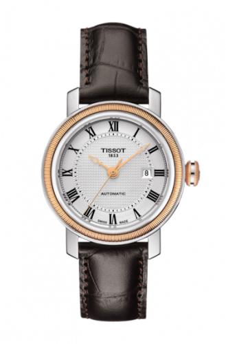 T097.007.26.033.00 : Tissot Bridgeport Automatic 29 Stainless Steel / Rose Gold PVD / Silver / Bracelet