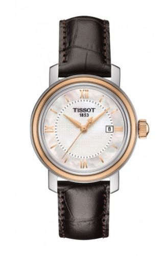 T097.010.26.118.00 : Tissot Bridgeport Quartz 29 Stainless Steel / Rose Gold PVD / MOP / Strap