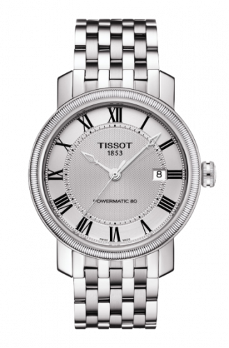 T097.407.11.033.00 : Tissot Bridgeport Powermatic 80 Silver Roman / Bracelet