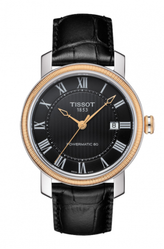 T097.407.26.053.00 : Tissot Bridgeport Powermatic 80 Two Tone / Black Roman