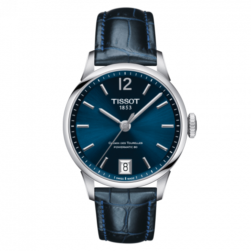 Tissot T099.207.16.047.00 : Chemin Des Tourelles Powermatic 80 32 Stainless Steel / Blue / Strap