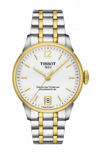 Tissot T099.207.22.037.00 : Chemin des Tourelles Powermatic 32 Stainless Steel / Yellow Gold / Silver / Bracelet