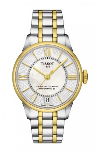 Tissot T099.207.22.118.00 : Chemin des Tourelles Powermatic 32 Stainless Steel / Yellow Gold PVD / MOP / Bracelet