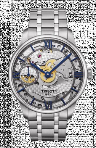 Tissot T099.405.11.418.00 : Chemin des Tourelles 42 Stainless Steel / Skeleton / Bracelet