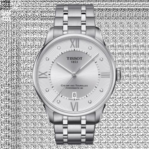 Tissot T099.407.11.033.00 : Chemin Des Tourelles Powermatic 80 42 Stainless Steel / Silver / Bracelet