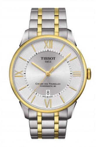 Tissot T099.407.22.038.00 : Chemin des Tourelles Powermatic 80 Two Tone / Silver Roman / Bracelet