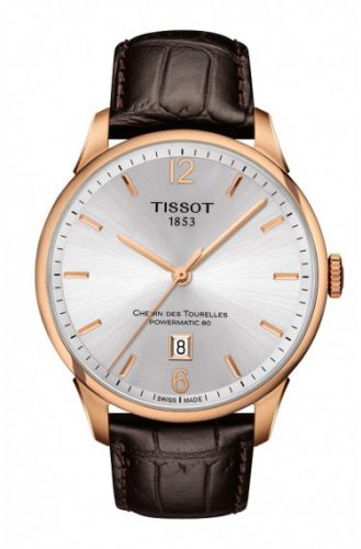 Tissot T099.407.36.037.00 : Chemin des Tourelles Powermatic 80 Rose PVD / Silver