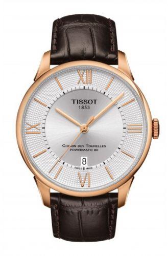 Tissot T099.407.36.038.00 : Chemin des Tourelles Powermatic 80 Rose PVD / Silver Roman