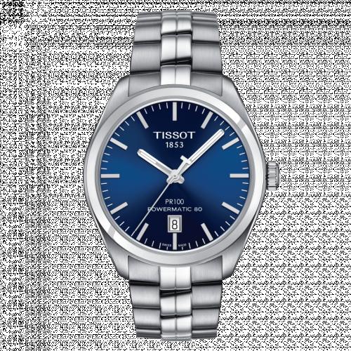 Tissot T101.407.11.041.00 : PR 100 Powermatic 80 39 Stainless Steel / Blue / Bracelet