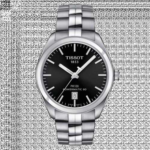 T101.407.11.051.00 : Tissot PR 100 Powermatic 80 39 Stainless Steel / Black / Bracelet