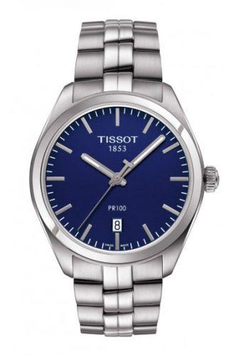 Tissot T101.410.11.041.00 : PR 100 Quartz 39 Stainless Steel / Blue / Bracelet