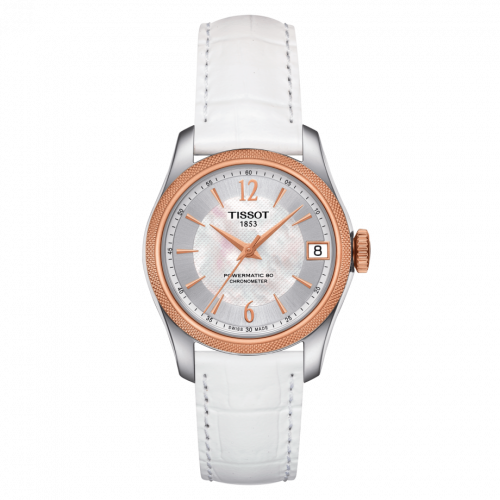 T108.208.26.117.00 : Tissot Ballade Powermatic 80 COSC 32 Stainless Steel / Rose Gold PVD / MOP / Strap
