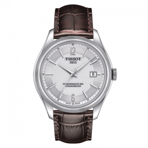 Tissot T108.408.16.037.00 : Ballade Powermatic 80 41 Stainless Steel / Silver / Strap