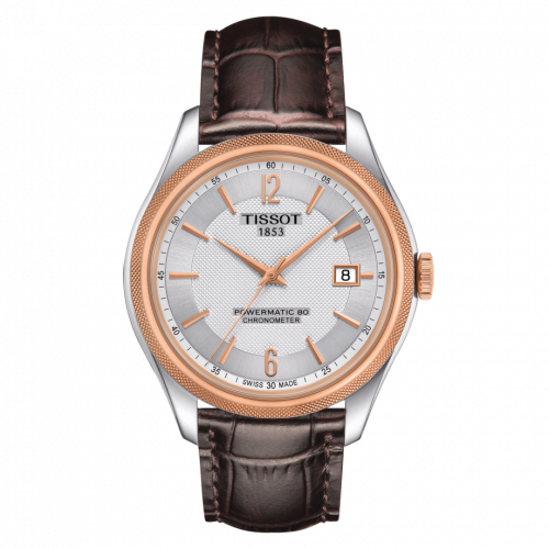T108.408.26.037.00 : Tissot Ballade Powermatic 80 41 Stainless Steel / Rose Gold PVD / Silver / Strap