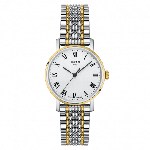 Tissot T109.210.22.033.00 : Everytime Small Stainless Steel / Yellow Gold / Silver / Bracelet