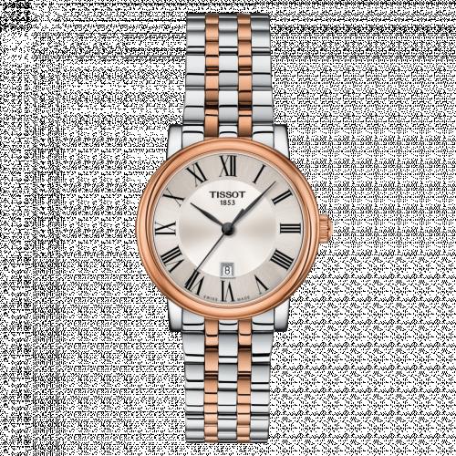 Tissot T122.210.22.033.01 : Carson Premium Quartz 30 Stainless Steel / Rose Gold PVD / Silver / Bracelet