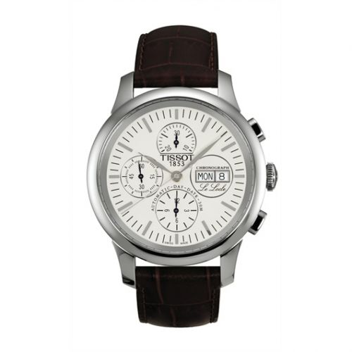T41.1.317.31 : Tissot Le Locle Chronograph 42.3 Stainless Steel / Silver / Strap