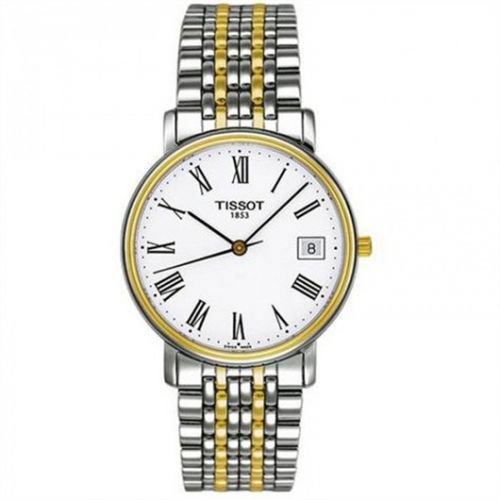 T52.2.481.13 : Tissot Desire Quartz 34 Stainless Steel / Yellow Gold PVD / White / Bracelet