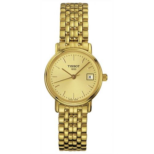 Tissot T52.5.281.21 : Desire Quartz 24 Yellow Gold PVD / Champagne / Bracelet