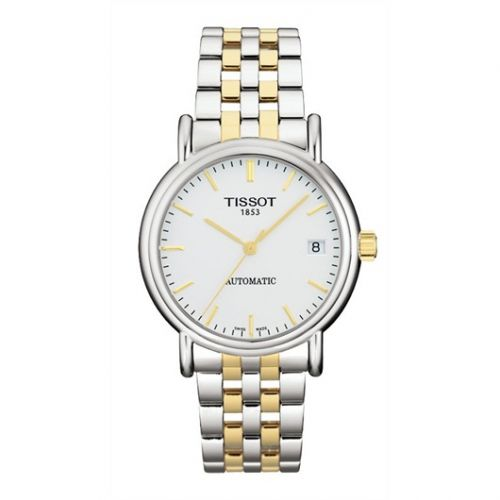 T95.2.483.31 : Tissot Carson Automatic 35.5 Stainless Steel / Yellow Gold PVD / Silver / Bracelet