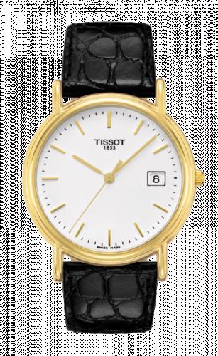 Tissot T71.3.429.11 : Carson Quartz 33.7 Yellow Gold / White / Strap