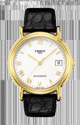 Tissot T71.3.430.13 : Carson Automatic 35.5 Yellow Gold / White / Strap