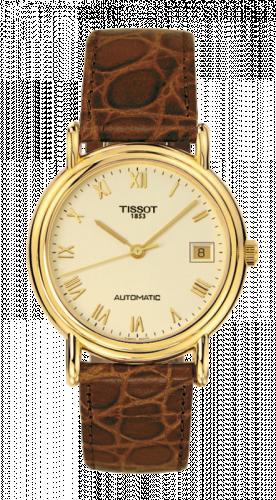 Tissot T71.3.430.23 : Carson Automatic 35.5 Yellow Gold / Champagne / Strap