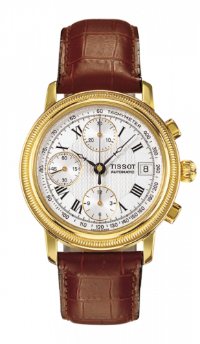 T71.3.435.33 : Tissot Bridgeport Automatic Chronograph Yellow Gold