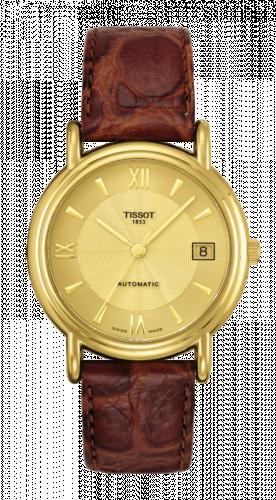 Tissot T71.3.464.24 : Carson Automatic 35.5 Yellow Gold / Champagne / Strap