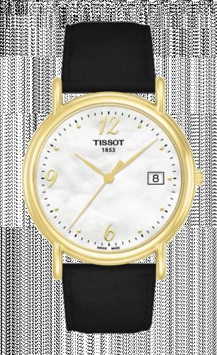 Tissot T71.3.489.74 : Carson Quartz 34 Yellow Gold / MOP / Strap