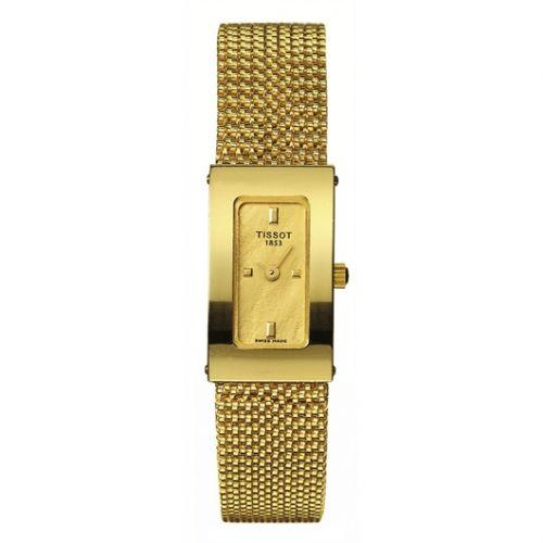 Tissot T73.3.322.21 : Bellflower Carree Yellow Gold / Champagne / Bracelet