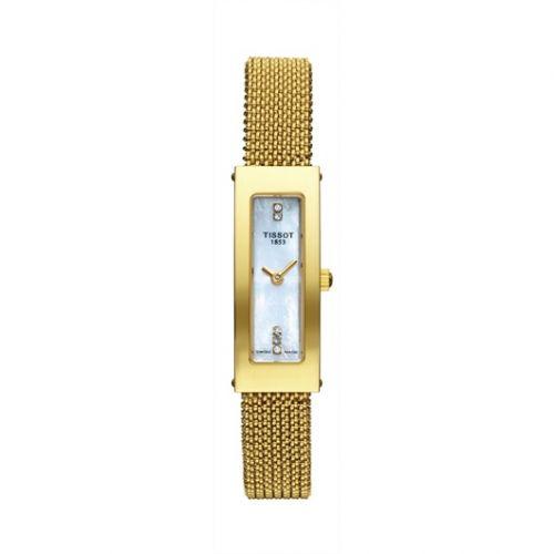 Tissot T73.3.329.76 : Bellflower Caree Yellow Gold / MOP / Bracelet
