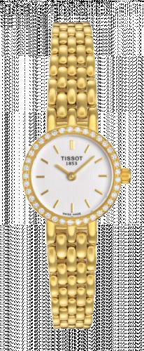 Tissot T74.3.112.11 : Caliente Quartz 19.3 Yellow Gold / Diamond / White / Bracelet