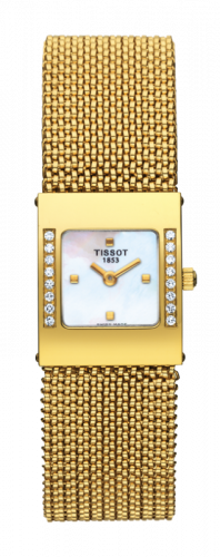 Tissot T74.3.308.71 : Bellflower Square Yellow Gold / Diamond / Bracelet