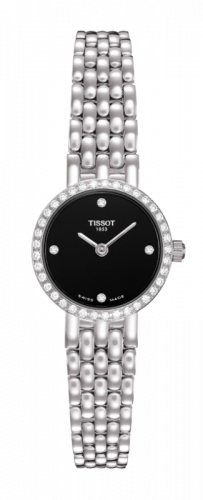 T74.5.112.56 : Tissot Caliente Quartz 19.5 White Gold / Diamond / Black / Bracelet